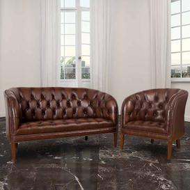 image-Chesterfield Jasper Low Back Tub Chair UK Manufactured