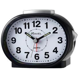 image-Shipley Analog Quartz Alarm Tabletop Clock Ravel