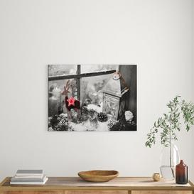 image-Windowsill Decorated for Christmas Photographic Art Print on Canvas East Urban Home Size: 40cm H x 60cm W