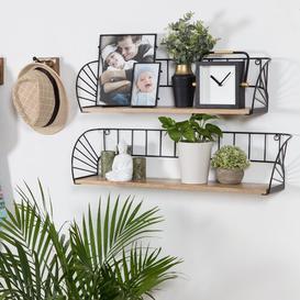 image-Freda 2 Piece Wall Shelf Set Brambly Cottage