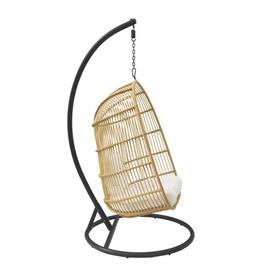 image-Swing Chair with Stand Bay Isle Home Colour: Light Brown