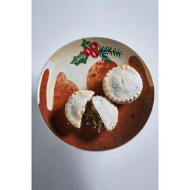 image-Set of 4 Christmas Pudding Plates