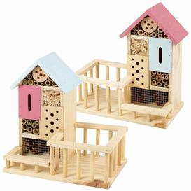 image-Dilsen 2 Piece Wood Freestanding Butterfly House Dakota Fields