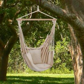 image-Samira Hanging Chair Freeport Park Colour: Beige