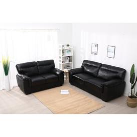 image-Foltz 2 Piece Sofa Set Mercury Row Upholstery Colour: Black