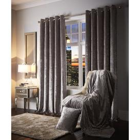 image-Esquire Eyelet Room Darkening Curtains Willa Arlo Interiors Colour: Silver, Panel Size: Width 168cm x Drop 137cm
