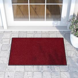 image-Original Cool Grey Doormat Wash+dry Colour: Taupe, Mat size: Rectangular 50 x 75cm