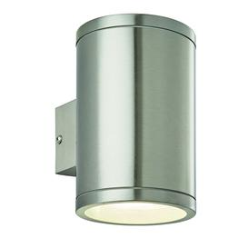 image-Neo 2 x 5W LED outdoor twin wall light in marine grade stainless steel, IP44 - 90537.