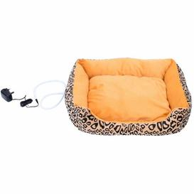 image-Gustavo Electric Heating Dog Bed in Orange Archie & Oscar