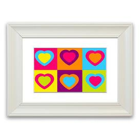 image-'Six Hearts Childrens' Framed Graphic Art East Urban Home Size: 50 cm H x 70 cm W, Frame Options: Matte White