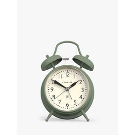 image-Newgate Clocks Covent Garden Twin Bell Silent Sweep Analogue Alarm Clock