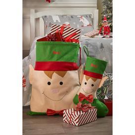 image-Personalised Elf Sack and Stocking Set