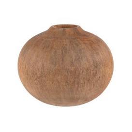 image-Mango Wood Ball Vase H16