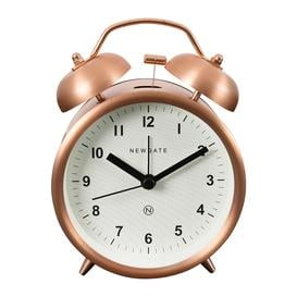 image-Newgate Clocks - Charlie Bell Alarm Clock - Radial Copper