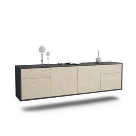 "image-Graceville TV Stand for TVs up to 78"" Ebern Designs Colour: Black/Cedar"