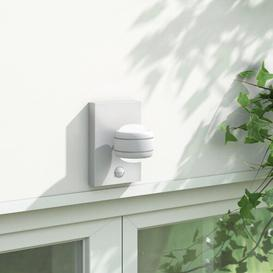 image-Liesl LED Outdoor Armed Sconce with Motion Sensor Sol 72 Outdoor Fixture Finish: White