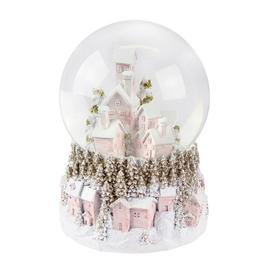 image-Gisela Graham - Pastel Village Musical Snow Globe