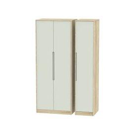 image-Monaco Kaschmir Matt and Bardolino 3 Door Triple Wardrobe - Tall Plain