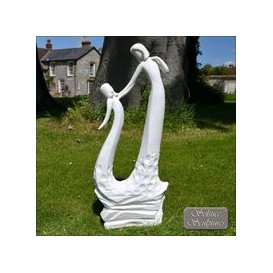 image-Mothers Garden Ornament Love Statue Black