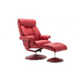 image-BiarritzBianca Swivel Recliner Chair and Stool - Cherry