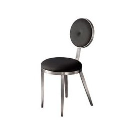 image-Ravello Dining Chair Silver - Black