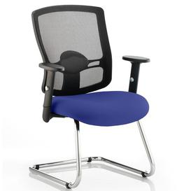 image-Mid-Back Mesh Cantilever Office Chair Symple Stuff Colour: Serene