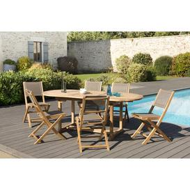 image-Woehler Garden 6 Seater Dining Set Dakota Fields