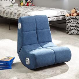 image-Gaming Chair X Rocker Upholstery Colour: Blue