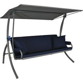 image-Elick Swing Seat Sol 72 Outdoor Fabric colour: Navy blue