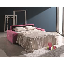 image-Ettore 3 Seater Italian Fabric Sofa Bed Pink