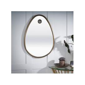 image-Laredo Antique Brass Oval Mirror - 56cm x 79cm