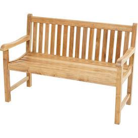 image-Elderfield Teak Bench Sol 72 Outdoor Size: 90cm H x 130cm W x 64cm D