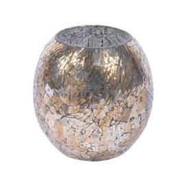 image-Libra Metallic Mosaic Platinum Large Round Candle Holder - Xmas-18