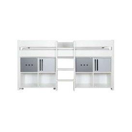 image-Stompa - Nexus Mid-Sleeper with Two 2-Door Storage Cubes - White