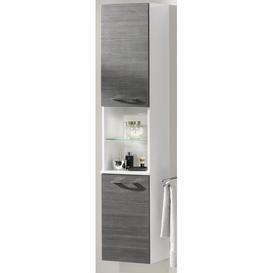 image-Vadea 35.5cm W x 169cm H x 32cm D Tall Bathroom Cabinet