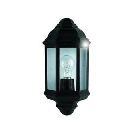 image-Outdoor Wall Flush Light In Black And Clear Glass