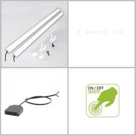 image-Hailey LED Under Cabinet Light Bar Brayden Studio Size: 1cm H x 65cm W x 1cm D