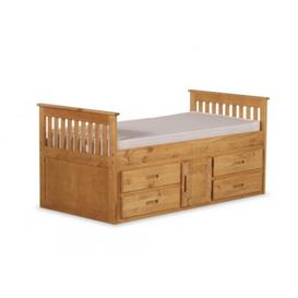 image-Captain Single Bed Frame with Drawers Just Kids