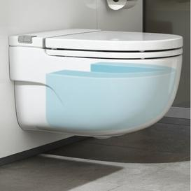 image-Intank Wall Hung Toilet with Soft Close Seat Roca