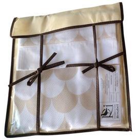 image-Baby Sheet Set Just Kids Colour: White/Beige, Size: 75 cm W x 85 cm L