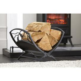 image-Heavy Duty Leaf Design Log Basket