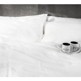 image-Lisbon Bed Linen in White (Pair of Pillowcases)