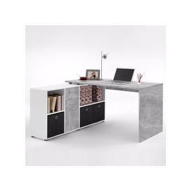 image-Flexi Modern Corner Computer Desk In Atelier And White