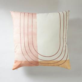 image-Simplicity Line Cushion Brown and White