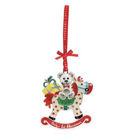 image-Tipperary Crystal Sparkle Rocking Horse Hanging Figurine Ornament Tipperary Crystal