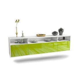 """image-Graff TV Stand for TVs up to 78"""" Ebern Designs Colour: White/Green"""