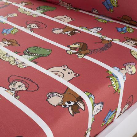 image-Disney Toy Story Cot Bed Fitted Sheet Red