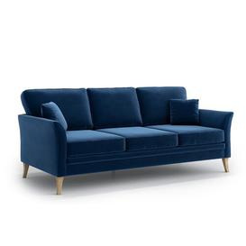 image-Avildsen 3 Seater Sofa Three Posts Upholstery Colour: Navy Blue