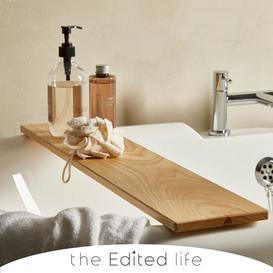 image-Ash Wood Bath Rack Brown
