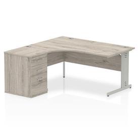 image-Zetta Executive Desk Ebern Designs Size: 73 cm H x 160 cm W x 80 cm D, Orientation: Left